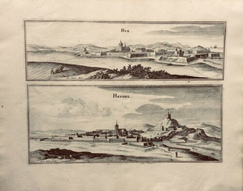 French 18th C. Copper Engravings Cities Rue, By J. Peeters - $39.00