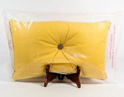 "Room Essentials Tufted Oblong Toss Pillow Midnight Gold Mustard Yellow 20"" x 12"""