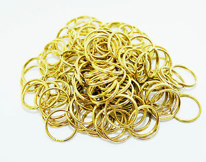 100-units-Brass-Plated-Split-Ring-Key-Rings-25mm-Diameter