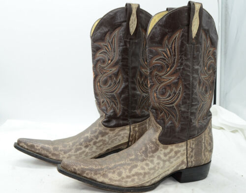 DJesus, Boots, Snake, Skin, Leather, Mens, Sz, 10, Western, Cowboy, Riding, Work, Boots