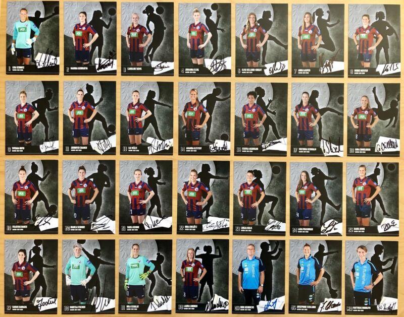 28 Ak Turbine Potsdam Women Autograph Cards 2017-18 Original Signed