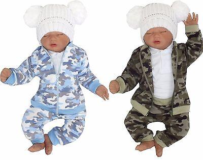 Baby Anzug (100% Baumwolle Baby 2er SET Jogginganzug Jacke +Hose gr 56 62 68 74 80 86)