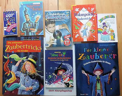 Zaubertricks-Paket mit 7 Büchern + 1 DVD mit Abrakadabra, Hexe Lillis geheime...