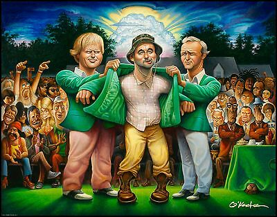 "The Green Jacket. A Tribute to Carl Spackler and 1980 Fine Art Print 22"" by 28"""