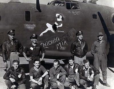 B 24 B 24H Liberator No  41 28603 Chiquita Mia Crew 450Th Bg Nose Art Photo 8X10