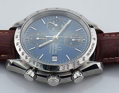 Omega Speedmaster Chronograph Date.  3511.80.  Blue Dial. Mens