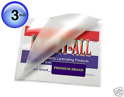 500 Pc Hot 3 Mil Lam-it-all Laminating Pouches For 4x6 Photos 4-14 X 6-14