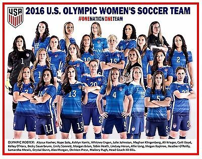 2016 U S  Olympic Womens Soccer Team Commemorative Poster