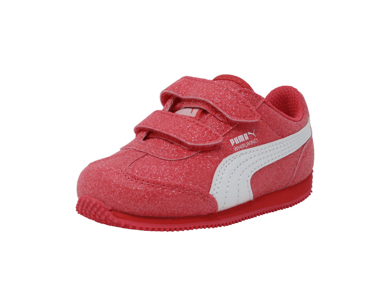 PUMA Shoes Girls Whirlwind Glitz V Toddler Infant Baby Kids Pink White Sneaker