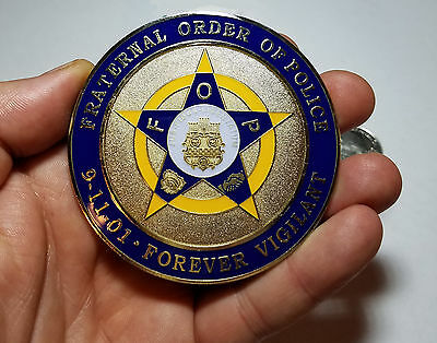 Collectible Metal Alloy Car Emblem Fraternal Order Of Police decal September 911