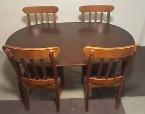 Expandable dining table with 4 chairs Melbourne CBD Melbourne City Preview