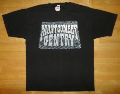 2001 MONTGOMERY GENTRY - THE PARTY STARTS HERE Black Shirt - Adult Medium - The Party Starts Here