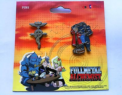 Official Fullmetal Alchemist Brotherhood Pin Set Flamel  Elric Brothers Sold Out