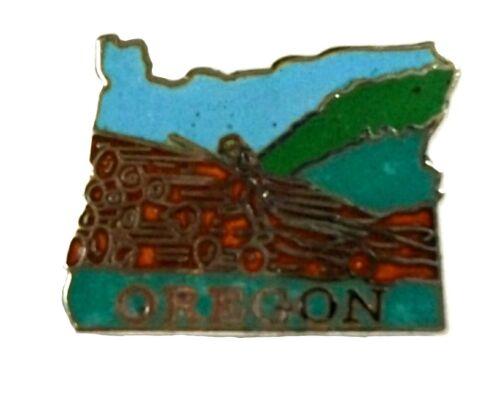 Oregon State Outline Hat Tac or Lapel Pin