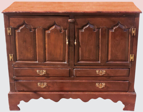 17TH C ANTIQUE WILLIAM & MARY SIDEBOARD CONSOLE SERVER IN OAK & YEW ~~ MUST SEE!