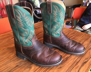 Justin Work Boots / Cowboy Boots, Size 9.5
