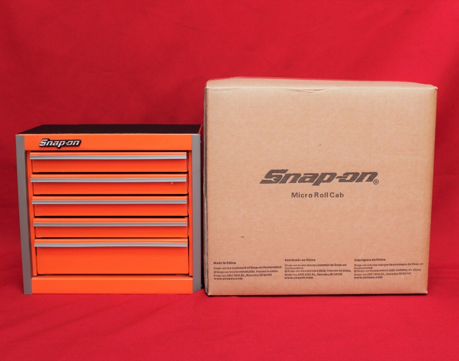 snap on electric orange mini bottom roll cab tool box brand new new for sale in united. Black Bedroom Furniture Sets. Home Design Ideas