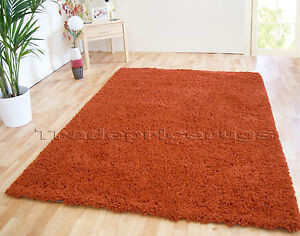 extra large rust terracotta burnt orange thick shaggy rug. Black Bedroom Furniture Sets. Home Design Ideas