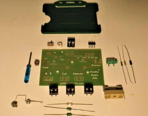 Crystal radio  experimental board with Cat