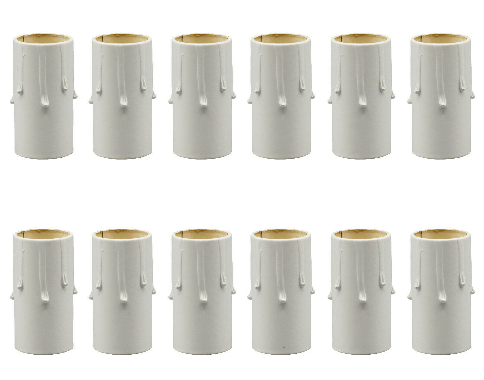 1 3/4 Inch Tall White Drip Candle Socket Covers ~ Candelabra Base, 50 Pcs Collectibles