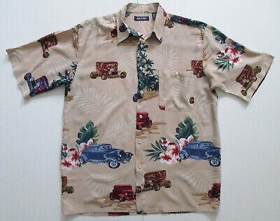 "Vintage Auth Puritan 'Cars' Hawaiian Shirt 44""-112cm M (165H)"