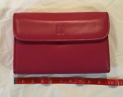 Anne Klein Calderon Clutch Handbag Evening Purse Dark Pink Lightweight EUC