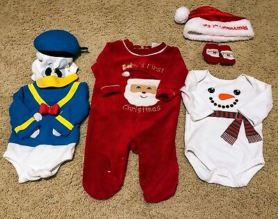 Set of Baby Boy Halloween First Christmas Costumes Size 0-3 Months