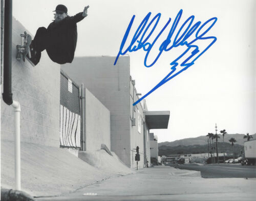 MIKE VALLELY SKATEBOARD LEGEND SIGNED 8X10 PHOTO I w/COA BONES BRIGADE PROOF