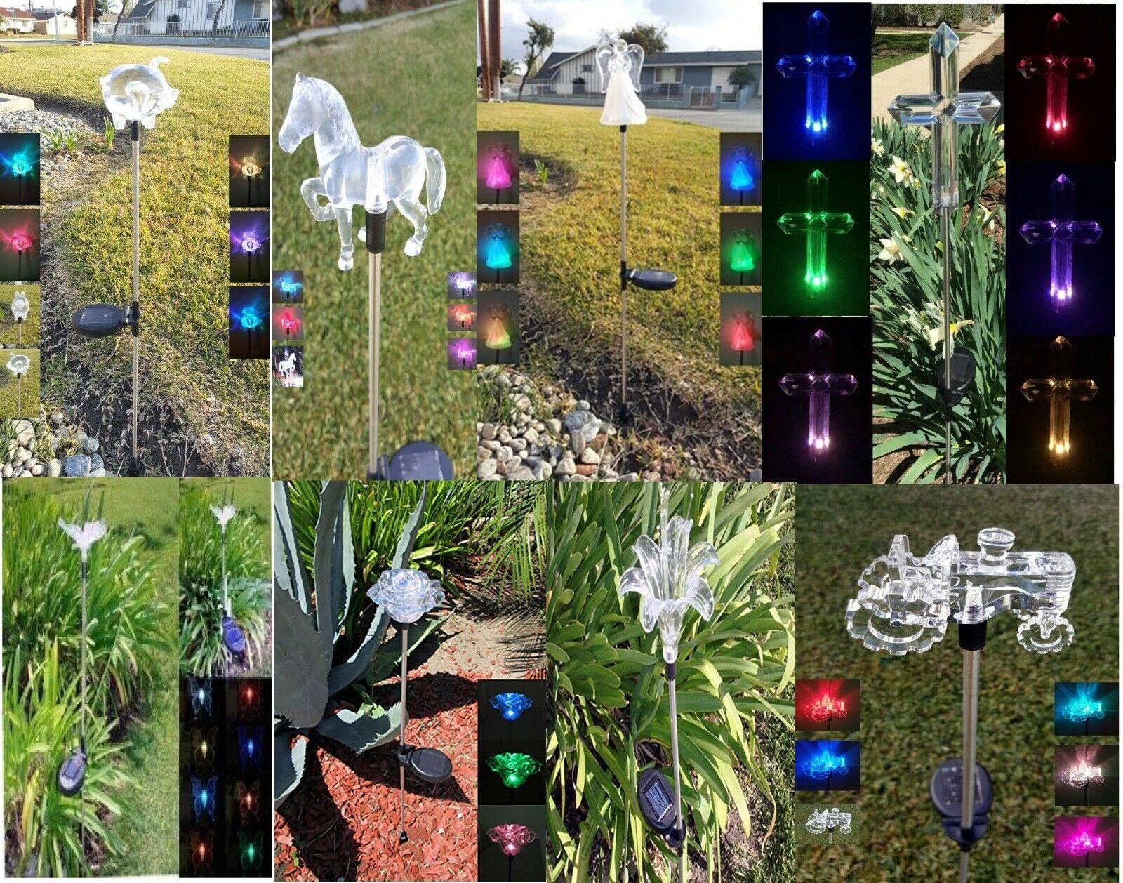 1 pcs Garden Solar Yard Lawn Patio Pathway Stake LED Light S