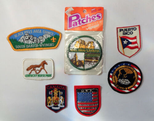 7 Embroidered Patches - Apollo 1, Wall Drug, BSA Black Hills and More!