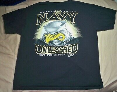 "7.62 U.S. Navy Middle Eastern Operations ""Unleashed"" Black T-Shirt Men"