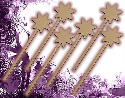 - Six (6) Fairy Wands Craft Wood MDF Girls Birthday Party Favor Novelty Toys 129