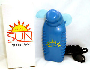 Hand Held Battery Operated Portable Mini Fan with Pocket Clip by Avon