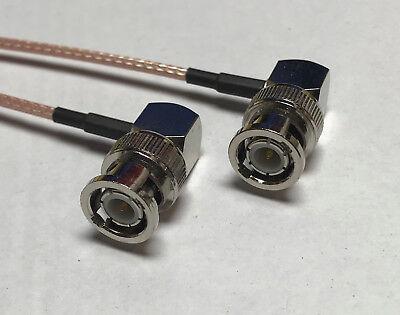 BNC Male Angle to BNC Male Angle Coaxial RG316 CABLE Wireless Antenna USA Hi Qua