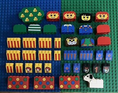 Lego 1 Green 3x2 slope printed Ronald McDonald yellow bird character