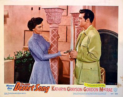 DESERT SONG 1953 Kathryn Grayson LOBBY CARD #4