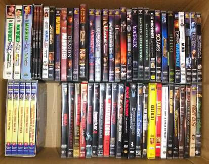 Lot of 100 DVD movies + 9 series sets