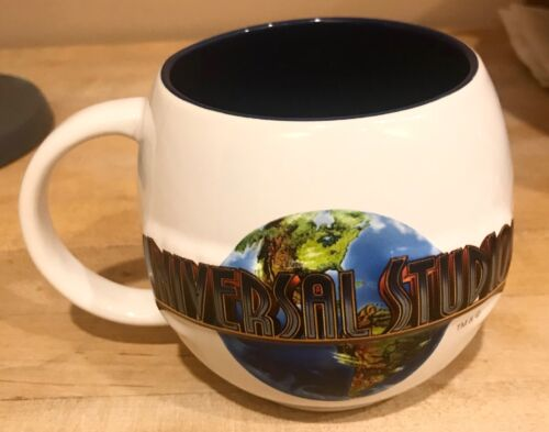 Universal Studios Round Globe Earth 3D Coffee Tea Hot 16oz Mug Blue Interior