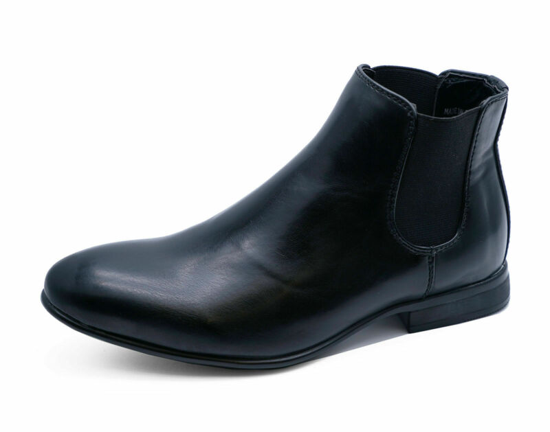 BOYS KIDS BLACK CHELSEA DEALER SMART FORMAL SCHOOL WEDDING SHOES BOOTS UK 10-5