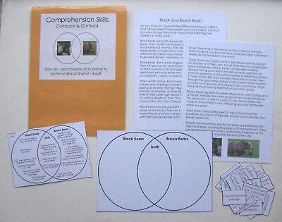 Teacher Made Literacy Center Resource Comprehension Skills Compare & Contrast
