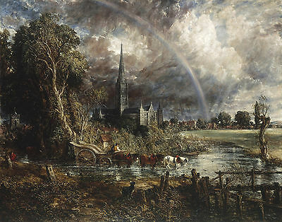 Constable John Salisbury Cathedral From The Meadows Print 11 x 14  (John Constable Salisbury Cathedral From The Meadows)