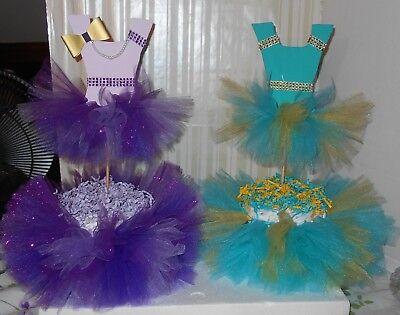 1 Tier Tutu Diaper Cake Baby Shower Center Piece Baby Girl Shower Gift