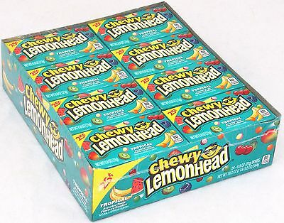 Tropical Chewy Lemonhead Fruit Candy 24 Ct Lemon Head Candies Bulk Lemonheads