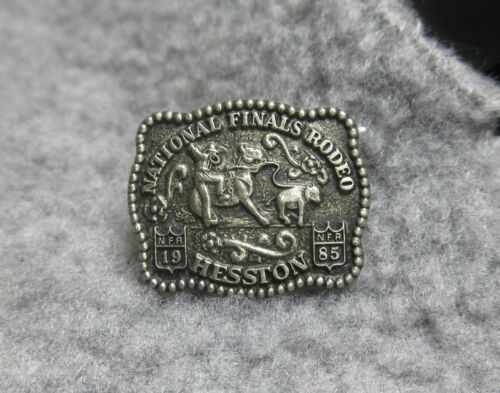 Vintage 1985 Hesston National Finals Rodeo hat pin tie tac lapel pin