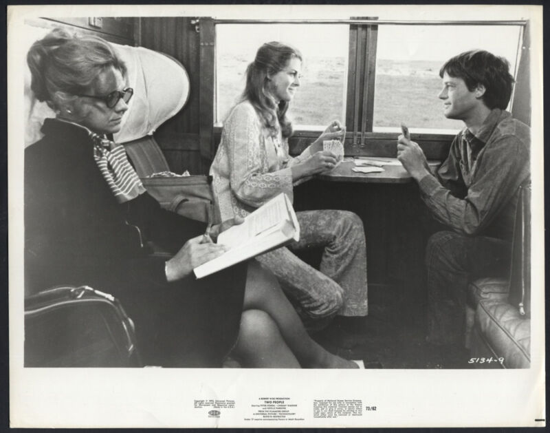 Two People '73 LINDSAY WAGNER PETER FONDA ON A TRAIN