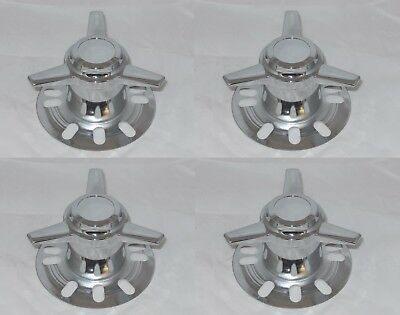 4 TOWERS SPINNERS STUD MOUNT CHROME WHEEL RIM CENTER CAPS 3.18-3.30 BORE 5 LUG