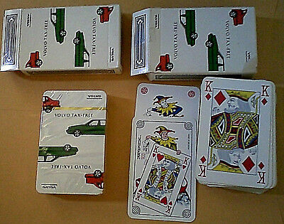 2 Decks Volvo Diplomat Sales Cartamundi Belgium Playing Cards [one sealed]