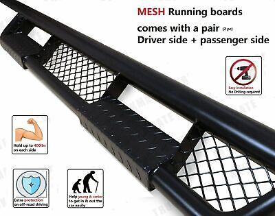 07-18 Fit Chevy Silverado GMC Sierra 1500 Crew Cab Mesh side Steps Running board
