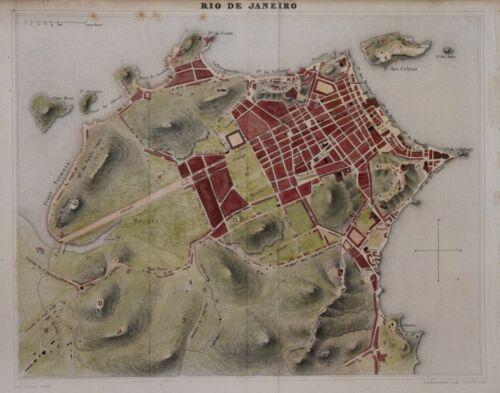 BRAZIL - PLAN OF RIO DE JANEIRO BY A. H. DUFOUR. CIRCA 1838.