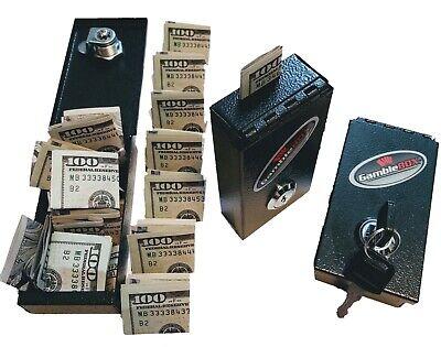 Gamblers pocket safe gamblebox casino money cash lock box gambling keeper helper